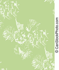 green pine emboss