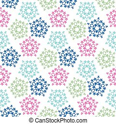 green pink blue colored birds seamless pattern