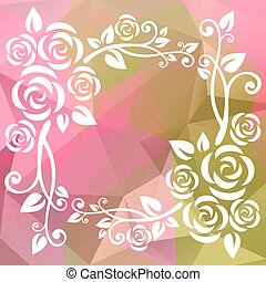 green pink border