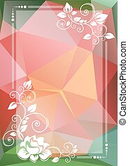 green pink floral border