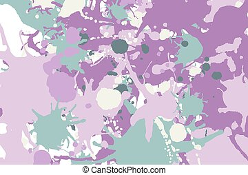 Green pink ink splashes background
