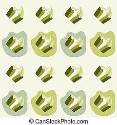 Green pistachio ice cream, cake or frozen yogurt seamless background