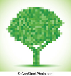 Green pixel tree