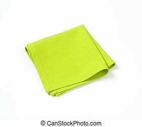 green place mat - folded green cloth place mat