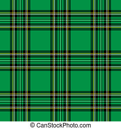 Green Plaid Pattern - Background illustration of green and ...