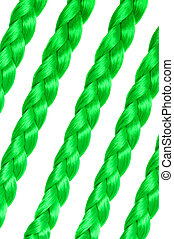 Green plait as a concept for St Patrick day
