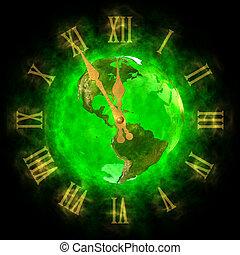 Green planet Earth - America