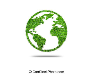 Green planet Earth. Concept of ecology.