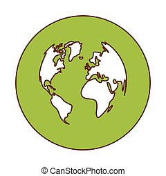 green planet earth icon image