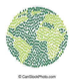 green planet over white background. vector illustration