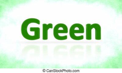 Green planet signature turning around.