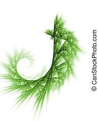Green plant fractal background