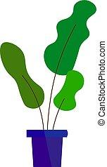 Green plant, illustration, vector on white background.