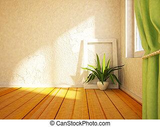 green plant near the window