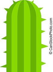 Green plant of desert icon isolated