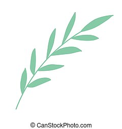 green plant on a white background