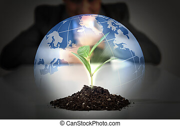 green plant on earth