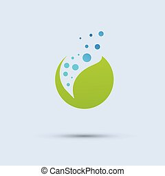 Green plant seeds white background