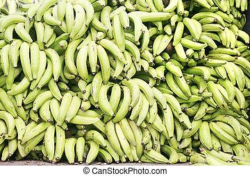 Green plantains (bananas)