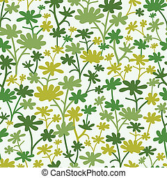 Green Plants Seamless Pattern Background