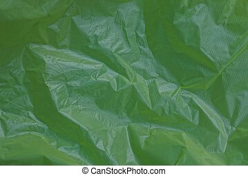 plastic background of a piece of crumpled cellophane