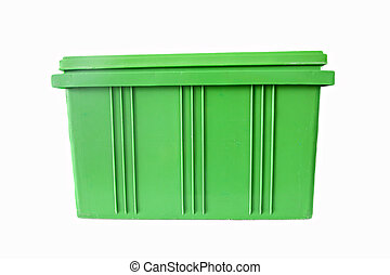 Green Plastic box Packaging of finished goods. - Green...