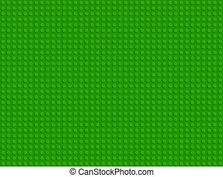Green plastic constructor blocks plate seamless pattern flat design