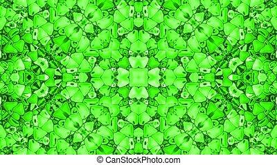 green plastic flower pattern