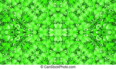 green plastic flower pattern