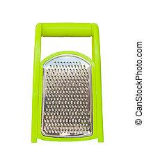Green plastic grater
