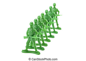 green plastic toy soldiers