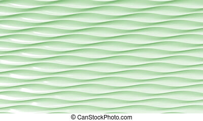 Green plastic wavy lines. Loopable motion background