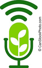 Green Podcast Logo Icon Design
