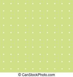 Green polka dot background pattern