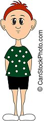 Green polka with dots, illustration, vector on white background.