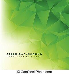 green polygonal abstract shape geometric background