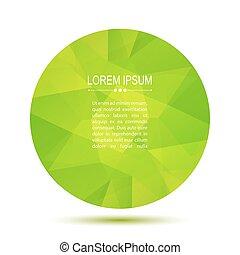 green polygonal frame