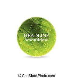 Green polygonal round sphere design