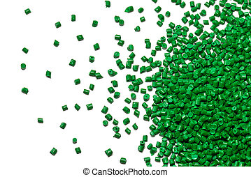 green polymer resin on white for background