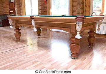 pool table - Green pool table