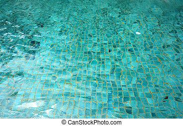 green pool water