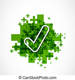 green positive approve sign
