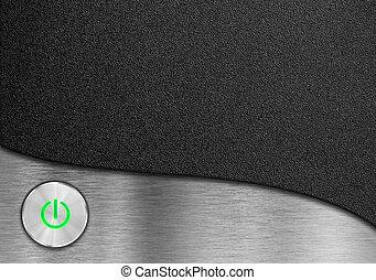 green power button design for computer