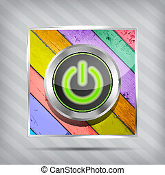 green power button icon