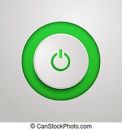 Green power button.