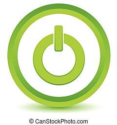 Green power icon