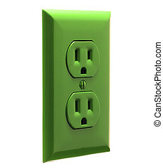 Green Power Outlet - North American wall power outlet...