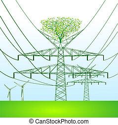 green power pole