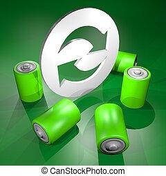 Green power - Creative design of green power