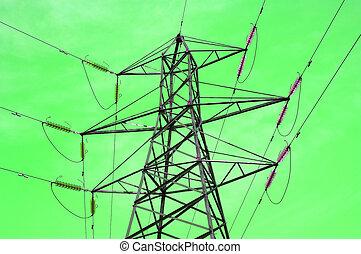 green power - Electrical pylone. /Power line